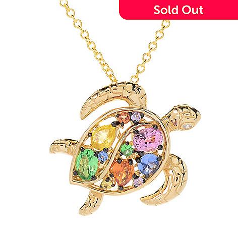 Effy watercolors 14k gold 100ctw diamond gemstone sea turtle 165 428 effy watercolors 14k gold 100ctw diamond gemstone sea pendant clasp pendant scale aloadofball Image collections