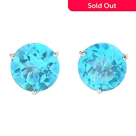 165 642 Gem Treasures Kellie Anne 14k Gold 8mm Gemstone Stud