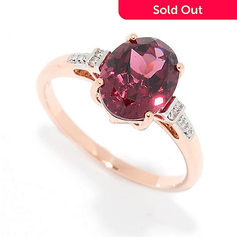 Gemporia 14K Rose Gold 2 51ctw Pink Umbalite & Diamond Ring