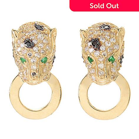 166 340 Effy Signature 14k Gold 0 62ctw Diamond Emerald Panther