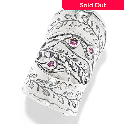 c0ec21f64875e Passage to Israel™, Sterling Silver Gemstone Vine Detailed Elongated Ring