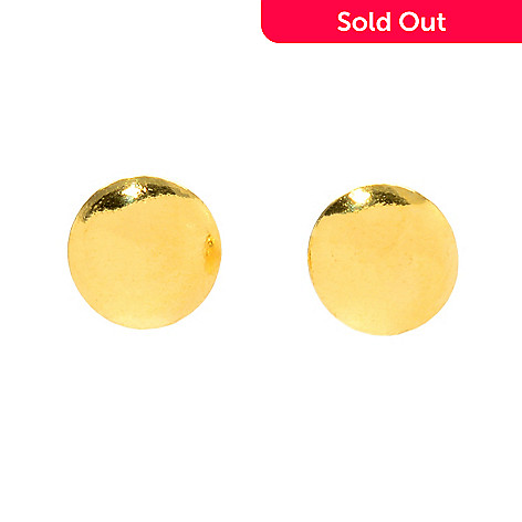 166 622 Lambert Cheng 24k Gold Choice Of Size Polished Stud Earrings