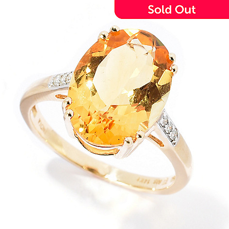 sterling gold in citrine silver and ct diamond jewelry natural ring