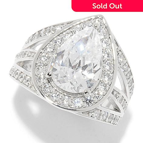 dcc538d477a5 Victoria Wieck for Brilliante® 3.85 DEW Pear Cut Simulated Diamond Halo Ring