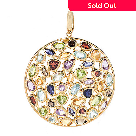 Viale18k italian gold mosaics 1600ctw multi gemstone round 168 208 viale18k italian gold mosaics 1600ctw multi gemstone round aloadofball Image collections