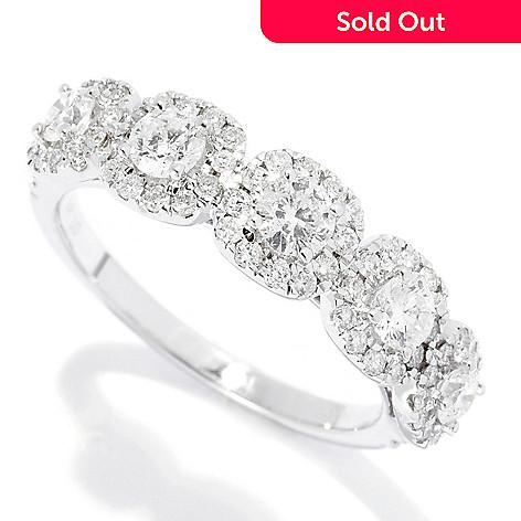 Gems Of Distinction 14k White Gold 1 02ctw Diamond 5 Stone Halo