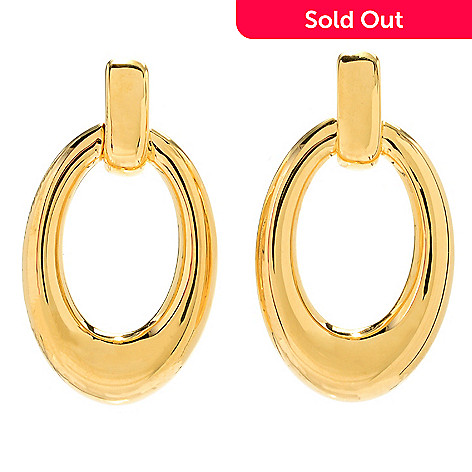 170 975 Voga Collection 18k Gold 1 5 Electroform Door Knocker Earrings