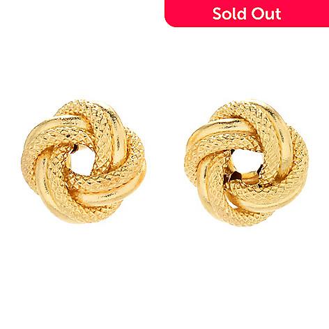 9807bb23e 170-983- Viale18K® Italian Gold Love Knot Stud Earrings
