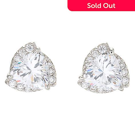 30312bcce1836b 172-283- Victoria Wieck for Brilliante® 4.54 DEW Trillion Simulated Diamond  Stud Earrings