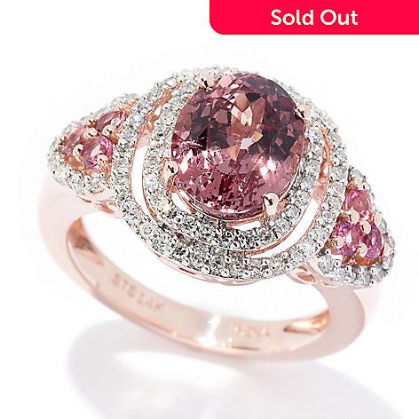 fb9ee0135dd61 Gem Treasures®, 14K Rose Gold, 2.99ctw Color, Change Garnet,, Diamond & Gem  Ring