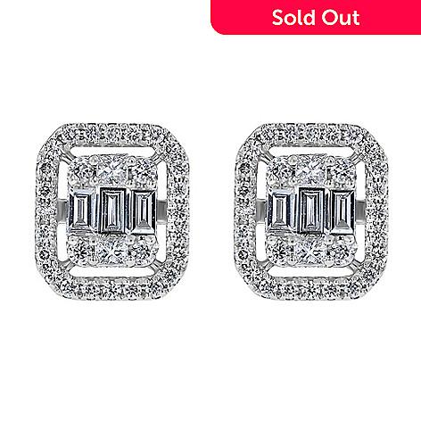 916919746 173-144- Beverly Hills Elegance® 14K White Gold 0.55ctw Multi Shape Diamond