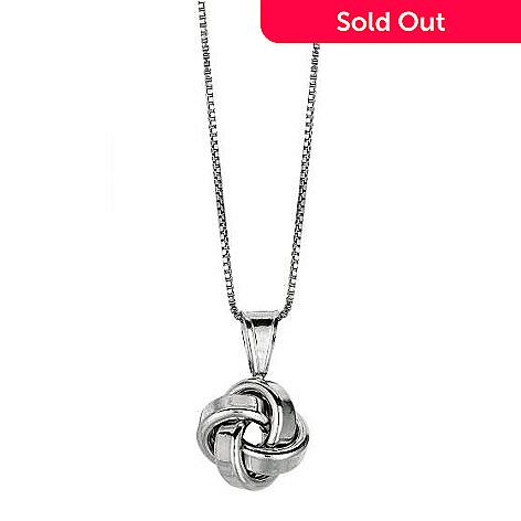 de3aa9e628946 Italian Sterling Silver Love Knot Pendant w/ 20