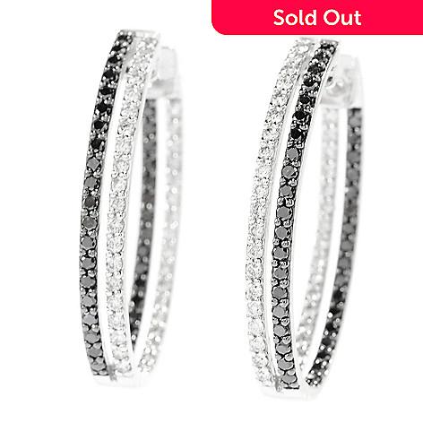 7b8786916 Beverly Hills Elegance® 14K White Gold 2.00ctw Black & White Diamond ...