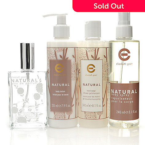 Elizabeth Grant Four Piece Natural Fragrance Body Collection Evine