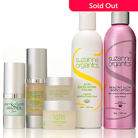 Suzanne Somers Organics Six-Piece Ageless Essentials Head-to-Toe Skincare  Kit