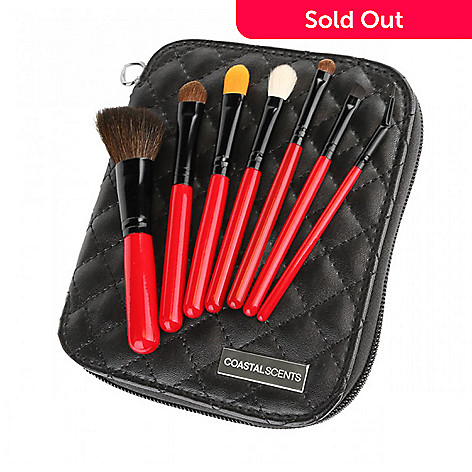 Coastal Scents Citiscape Seven-Piece Travel Size Brush Set w/ Case
