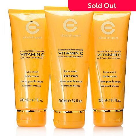 7fe8022037d7 308-011- Elizabeth Grant Vitamin C Hydra-Moist Body Cream Trio 6.7 oz