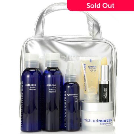 Michael Marcus Six-Piece Hydrate & Tighten Skincare Set w/ Cosmetic Bag