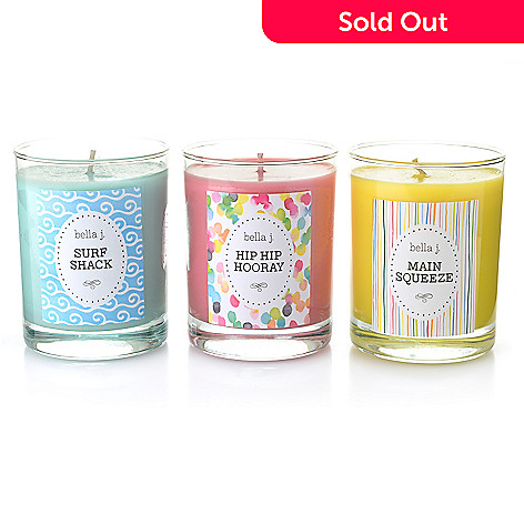 24 Oz Scented Candles Trio W Collectible Charm