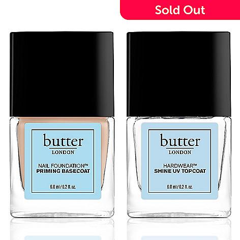 butter LONDON Nail Foundation Priming Basecoat & Hardwear Shine UV ...