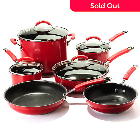 Sur La Table Colored Stainless Steel 10-Piece Nonstick Cookware Set ...