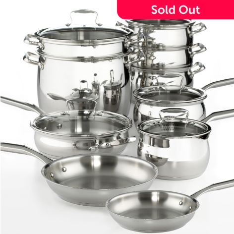 Macy's Tools of the Trade Belgique 15-Piece Stainless Steel Cookware Set