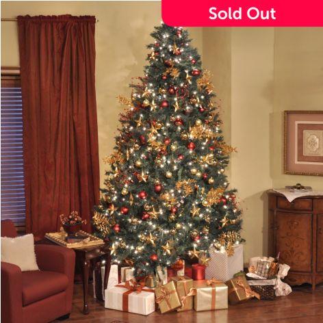 9 Artificial Christmas Tree.Thomas Pacconi Classics 9 Pre Lit Revolving Artificial Christmas Tree