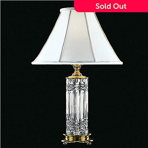 hollywood regency diamond crystal originalviews living vintage style cuts steel brass base lamp room lamps stainless table waterford with pipe