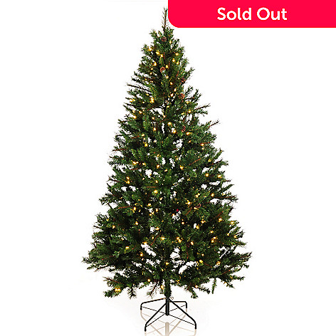 Starry Nights 7 5 Pre Lit Led Perfect Albany Christmas Tree W Remote Control