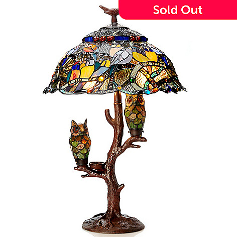 Tiffany style 285 parliament triple lit stained glass table lamp 405 856 tiffany style 285 parliament triple lit stained glass table lamp aloadofball