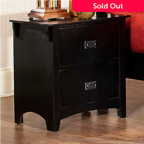 418 976 Distressed Black Two Piece Nightstand Set