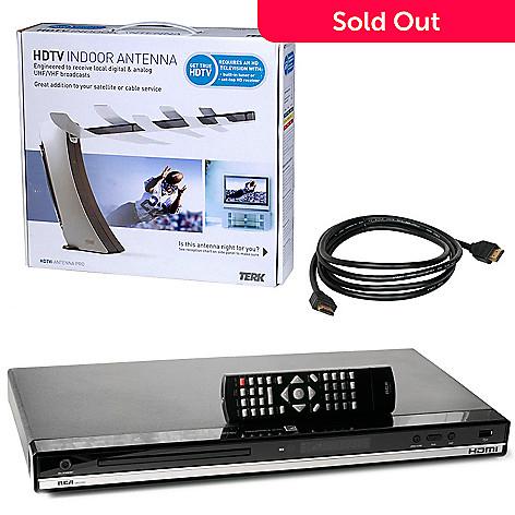 RCA HDMI Upconvert DVD Player, HDMI Cable & HD Antenna - EVINE