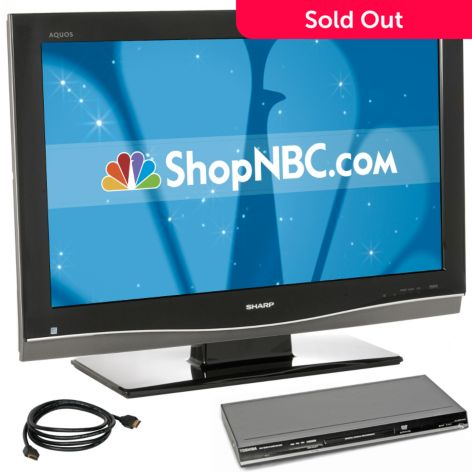 Sharp Aquos 37 1080p Lcd Tv W Mount Package Evine