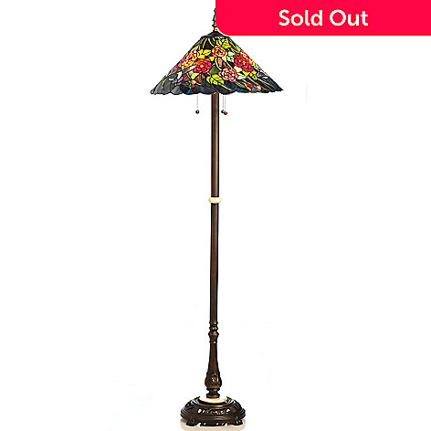 434 916 Tiffany Style 64 5 Hummingbird Stained Gl Floor Lamp
