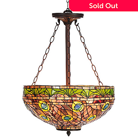 435 887 Tiffany Style 50 Rippled Pea Stained Gl Hanging Lamp