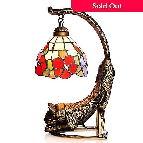436 530 Tiffany Style 15 Blooming Cat S Tail Stained Gl Accent Lamp
