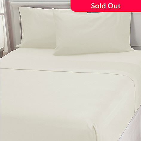 437 348 500tc Cotton Poly Blend Easy Care Four Piece Sheet Set