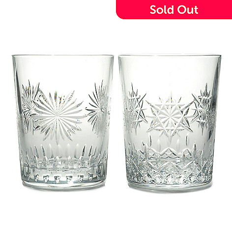 24a224f29add 437-353- Waterford Crystal Snowflake Wishes 12 oz Joy & Courage Double Old  Fashioned
