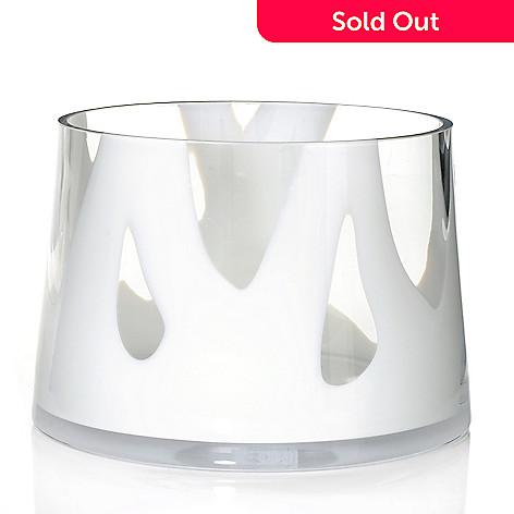 Evolution By Waterford Bianco 9 Art Glass Angular Bowl Evine