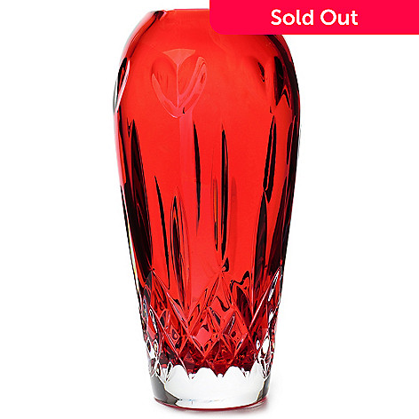 Waterford Crystal I Love Lismore 7 Red Bud Vase Evine