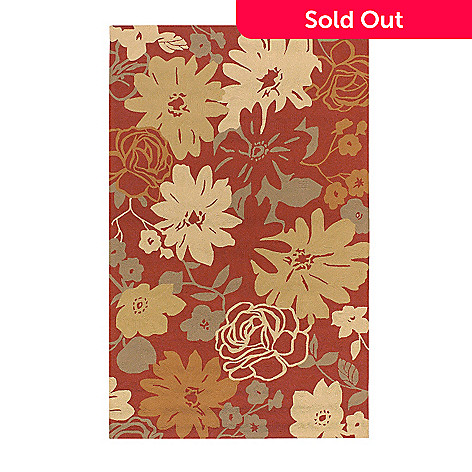 All Season Rugs Brighton Floral Hand Hooked Stain Uv Resistant