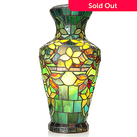 Tiffany Style 1725 Hampstead Stained Glass Vase Lamp Evine