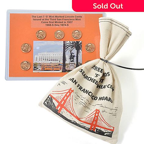 1939-1955 Circulated (S) 3 lb Penny Bag w/ Bonus 1968-1974 BU (S) Penny  Board