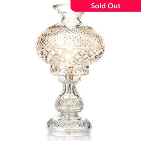 """waterford crystal inishmore 19"""" diamond cut table lamp"""