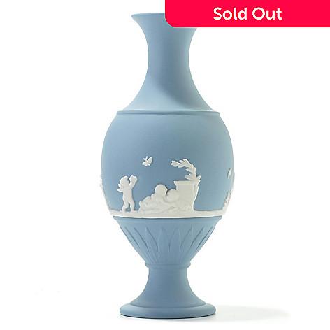 Wedgwood Blue Bud 625 Jasperware Vase Evine