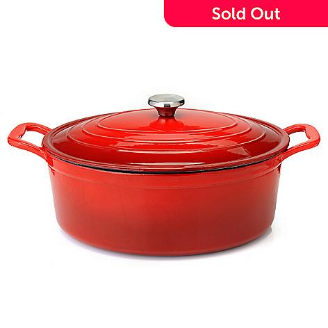 440 438 Cooks TraditionR Enameled Cast Iron 8 Qt Dutch Oven W
