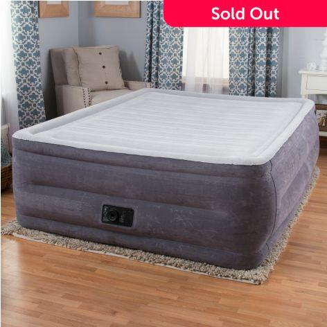 high rise air mattress Intex Comfort Plush High Rise Profile Air Mattress w/ Built in  high rise air mattress