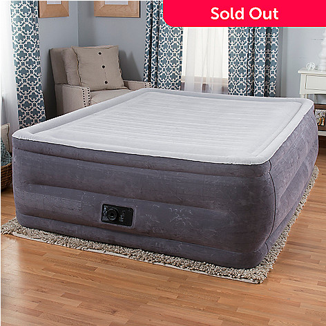 intex comfort plush high rise profile air mattress w built in pump