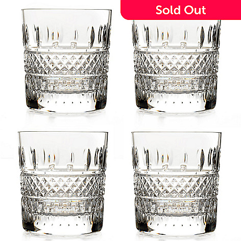 Waterford Crystal Irish Lace Set Of Four Glasses Evine