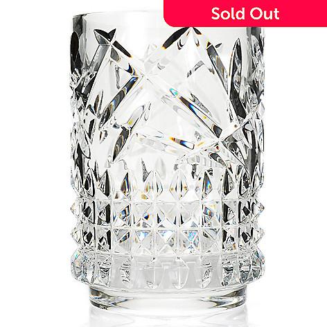 Waterford Crystal Tina 8 Wedge Diamond Cut Cylinder Vase Evine